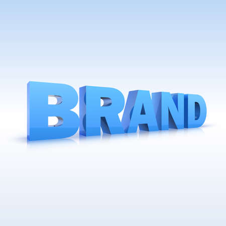 The word brand, volumetric, three-dimensional, vector with the reflexes of Illustration