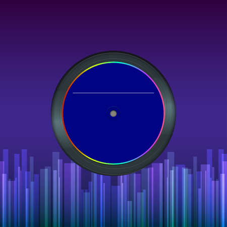 record disk, abstract background  Illustration