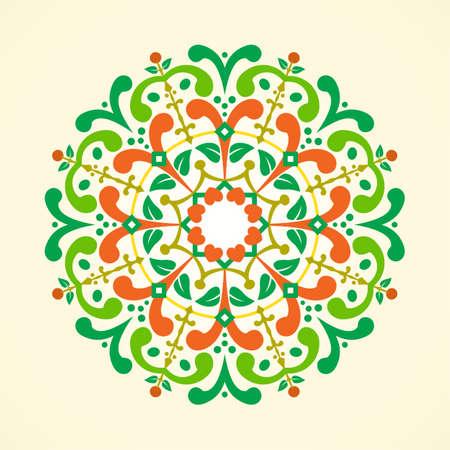 illustration of a vintage radial ornament. CopyPaste ready. Illustration