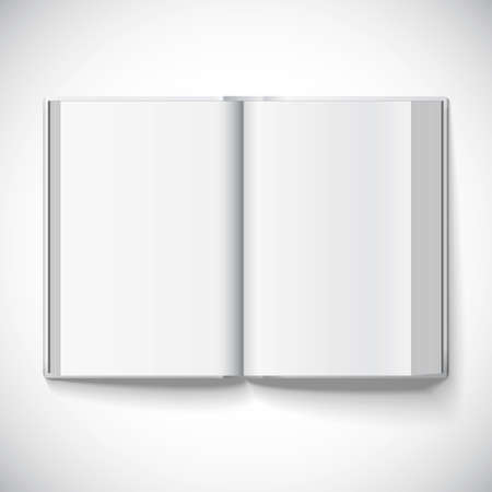 Blank open book, illustration of a gradient mesh used. Isolated object for design and branding Vector