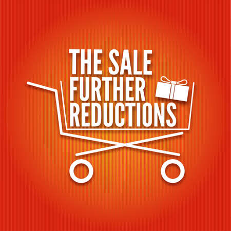 The sale further reductions poster with a basket, vector illustration, vector illustration for your design Vector
