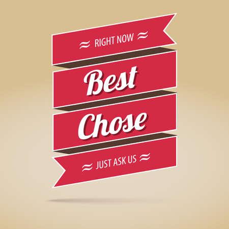 chose: Best chose poster,  vector illustration for your design Illustration
