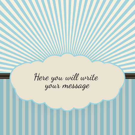 Vintage background with sunbeams, vector illustration for your business
