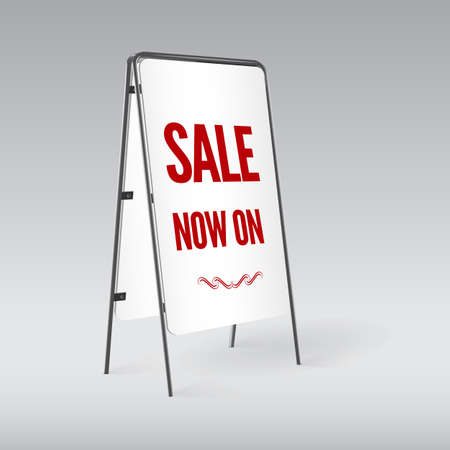 sandwich board: Sandwich board isolated, vector illustration for business and design Illustration
