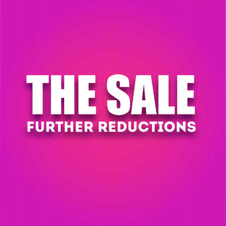 white letters: Caption large white letters The sale - further reductions on a red background, vector illustration