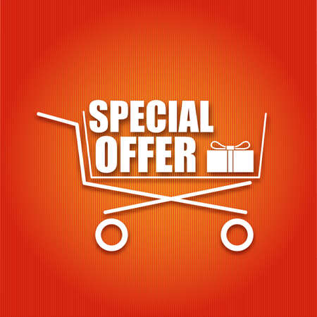 Shopping cart with the inscription illustration for your design Vector