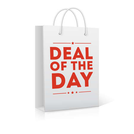 Deal of the day, shopping bag illustration
