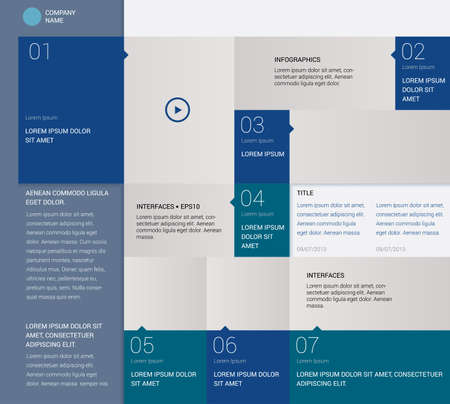 Template for Info graphics, metro style.  Vectores