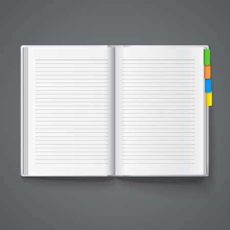 Notebook for notes, diary template. Illustration
