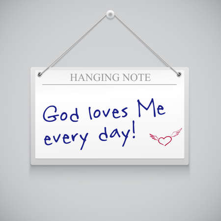 Hanging note board with text editable template Vector