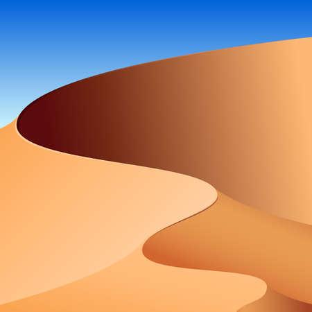erg: Sand dunes, abstract background Illustration