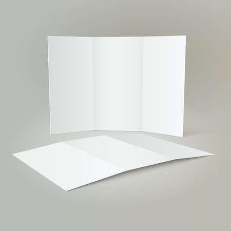 Tri-Fold Mockup & Brochure Design Illustration