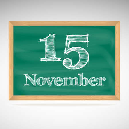 November 15, day calendar, school board, date Vector