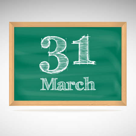 31: March 31, day calendar, school board, date