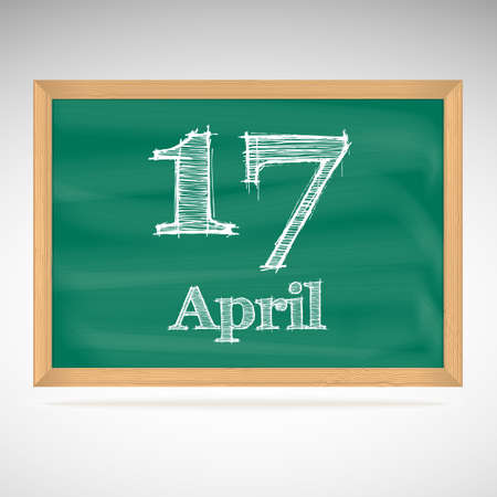 April 10, day calendar, school board, date Vector