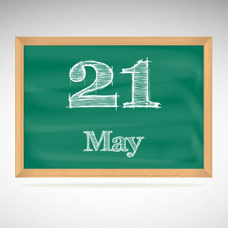 May 21, day calendar, school board, date Vector