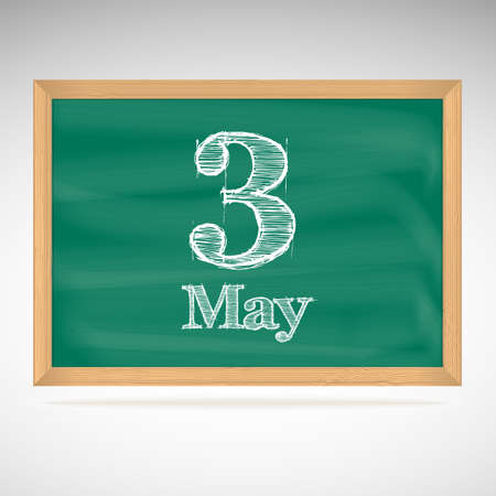 May 3, day calendar, school board, date Vector