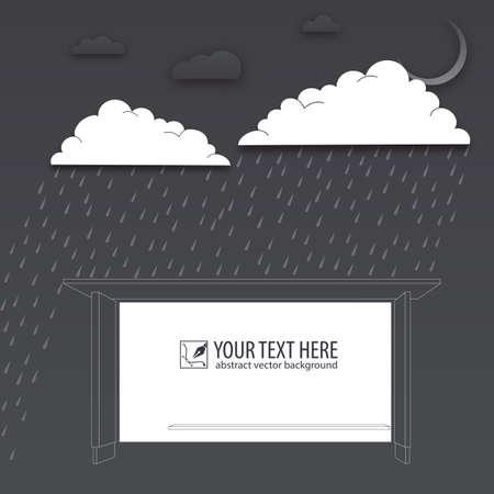 drench: Protección de angustia, día de lluvia, fondo del vector