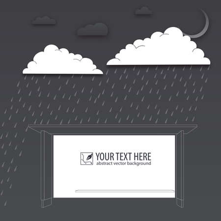 drench: Protection of trouble, rainy day, vector background