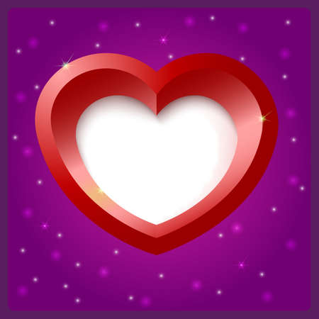 Heart shape vector object Vector
