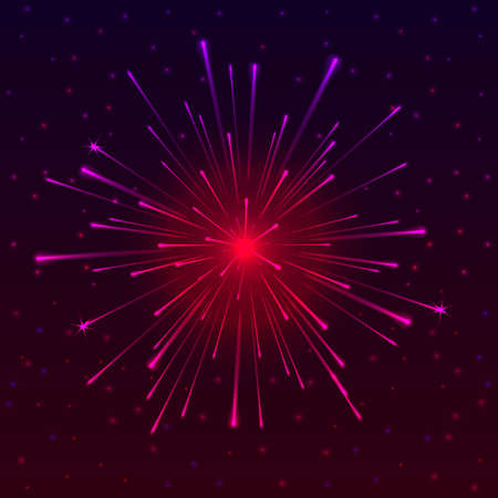 festal: Abstract background with Celebratory Fireworks, vector illustration