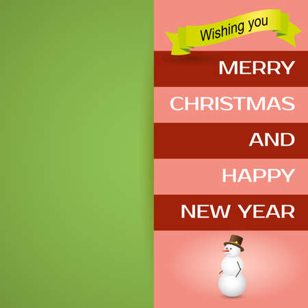 merry christmas postcard background happy new year message happy holidays wish stock