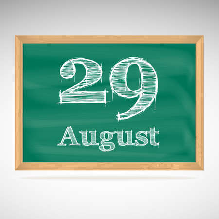 August 29, day calendar, school board, date, schedule Vector