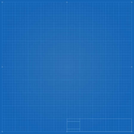Blueprint background with vignetting
