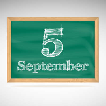 September 5, day calendar, school board, date, schedule Vector
