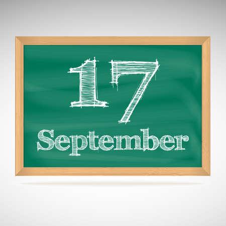 September 17, day calendar, school board, date, schedule Stock Vector - 24391492