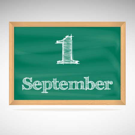 calendario septiembre: 1 de septiembre del calendario de d�as, la junta escolar, la fecha, el horario