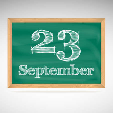 September 23, day calendar, school board, date, schedule Vector