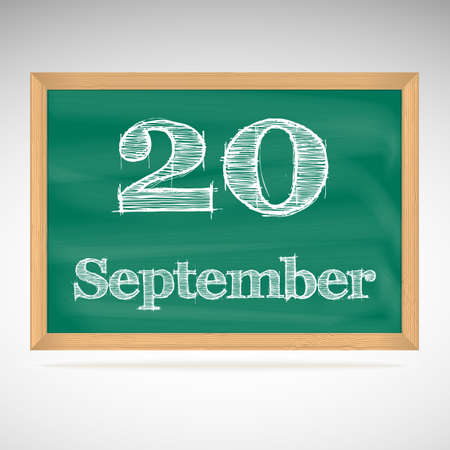 September 20, day calendar, school board, date, schedule Vector