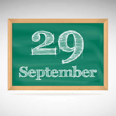 September 29, day calendar, school board, date, schedule Vector