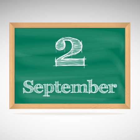 September 2, day calendar, school board, date, schedule Vector