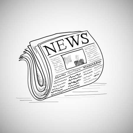 Newspaper hand-drawn Stock Vector - 24635526