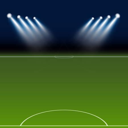 floodlight: Green football field Illustration