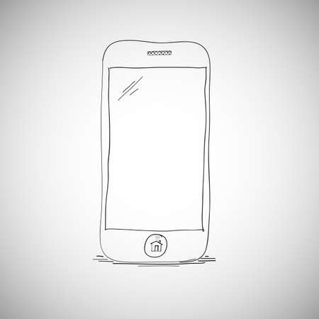 smartphone hand: Smart phone sketch