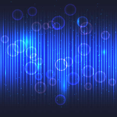 Abstract glowing blue vector background. Vector