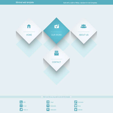 Minimal Web Template for corporate or portfolio site Vector