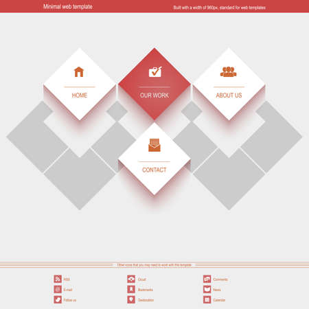 Minimal Web Template for corporate or portfolio site Vector