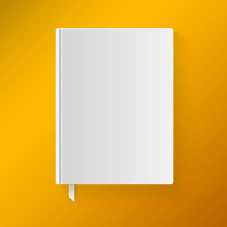 Blank book cover with a bookmark. Vector illustration. Isolated object for design and branding Illustration
