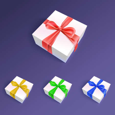 inkle: Gift boxes with ribbons and bows in different colors