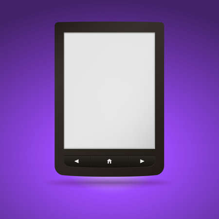 databank: e-book reader. You may add your own text or picture.