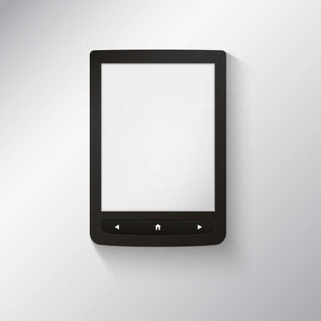 e-book reader. You may add your own text or picture. Vector