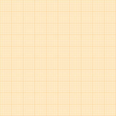 millimetre: Old sepia graph paper square grid background.