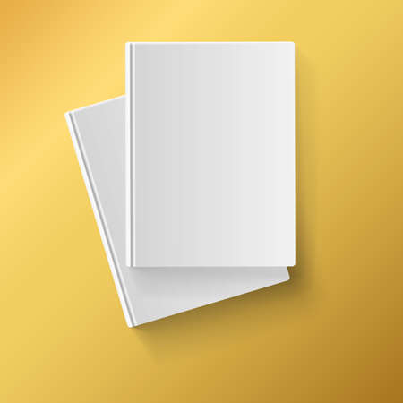 Blank white  books on yellow background for corporate identity, advertising and promotions Stock Vector - 26542668