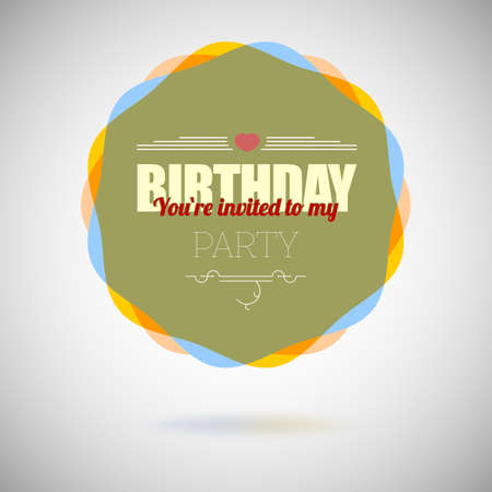 Birthday party invitation card, vector design template