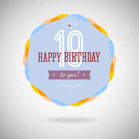congratulatory: Congratulatory badge for the nineteen-year. 19 years happy birthday. Congratulatory sign for anniversary. Vintage vector typography.