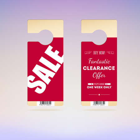 Set of tags with the announcement of the sale and special. Bright advertisement for your business Vector